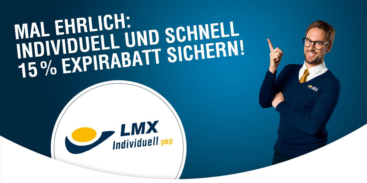 15 % Expirabatt mit LMX Individuell pep